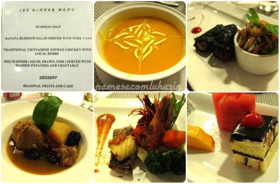 Jantar no Signature One em nossa primeira noite em Halong Bay